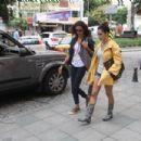 Arzum Onan & Songül Oden walking in Nisantasi, Istanbul