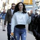 Krysten Ritter on Set of 'The Defenders' in New York 12/1/ 2016 - 454 x 815