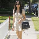 Jessica Gomes in mini dress out in Beverly Hills - 454 x 655