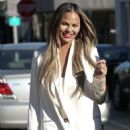 Chrissy Teigen – Lunch at Olivetta in West Hollywood