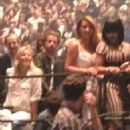 Blac Chyna, Tyga, Kim Kardashian, Kourtney Kardashian, Scott Disick, and Kris Jenner at Kanye West's Concert in Las Vegas - October 25, 2013 - 454 x 527