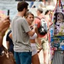 Sofia Richie – Wears white mini skirt while enjoys a day in Portofino – Italy - 454 x 512