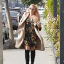 Busy Phillips in Floral Mini Dress out in West Hollywood - 454 x 536