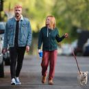 Brittany Snow – Walk her dog out in Los Angeles - 454 x 362