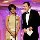 Halle Berry and Christopher Walken At The 54th Annual Golden Globe Awards (1997)