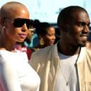 Kanye West and Amber Rose arrive at the 2009 BET Awards held at the Shrine Auditorium in Los Angeles, California - June 28, 2009 - 454 x 309