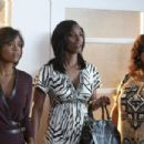 Dianne (Sharon Leal, left), Angela (Tasha Smith, center) and Sheila (Jill Scott, right) in TYLER PERRY'S WHY DID I GET MARRIED TOO?. Photo credit: Quantrell Colbert