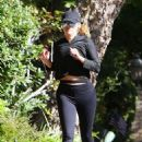Reese Witherspoon in Tights – Jogging in Santa Monica