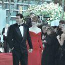 Jeff Goldblum and Geena Davis at the 1990 Academy Awards