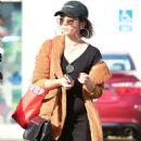 Sara Hyland in Black Dress – Shopping in Los Angeles