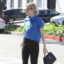 Emma Roberts in Black Jeans out in Beverly Hills