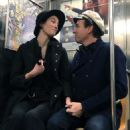 Mary Elizabeth Winstead and Ewan McGregor – Hold hands while riding the NYC Subway - 454 x 597
