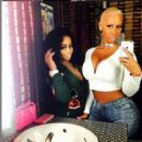 Blac Chyna and Amber Rose at Machine Gun Kelly's Concertat The House of Blues in Los Angeles - July 1, 2015 - 454 x 449