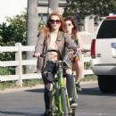 Bella Thorne – Riding Bike Around Los Angeles 8/13/2016 - 454 x 635