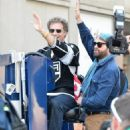 Will Farrell and Zach Galifianakis at the Hockey Hall of Fame in Toronto, Canada (July 30)