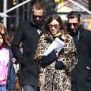 Alexa Chung in Leopard Prin Coat out in New York - 454 x 611
