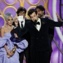 Mark Ronson, Anthony Rossomando, Lady Gaga and Andrew Wyatt At The 76th Golden Globe Awards (2019) - 454 x 303