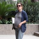 Drew Barrymore: headed into a local real estate office in Beverly Hills