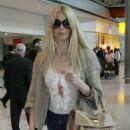Claudia Schiffer Arriving At Heathrow Airport, 2008-06-03