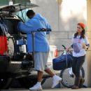 Eliza Dushku - Working On Her Car In LA November 14, 2009