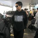 Rihanna: arriving at LAX airport in Los Angeles