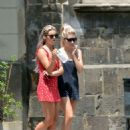 Lottie Moss and Tina Stinnes – Leaves hotel in Barcelona