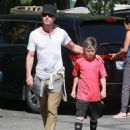 Gavin Rossdale takes his son Kingston to his soccer game in Sherman Oaks, California on April 12, 2015 - 454 x 546