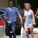 Jennie Garth and husband Dave Abrams g out shopping at Macy's in Los Angeles, California on August 26, 2016 - 454 x 581