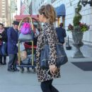 Kate Beckinsale in Animal Print Coat – Out in New York City