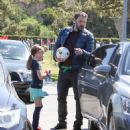 Ben Affleck spotted at his daughter  soccer game on Saturday April 1st, 2017 in Santa Monica, CA - 454 x 511