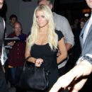Jessica Simpson At Craigs Restaurant In West Hollywood