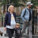 Olivia Wilde spotted taking a walk during a break from filming her upcoming movie 'Life, Itself' in Manhattan, New York's Washington Square Park on March 26, 2017 - 435 x 600