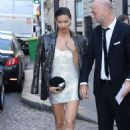 Adriana Lima – Arriving at Vogue Dinner Party in Paris - 454 x 681
