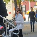 Debra Messing: on the set of NBC's hit show