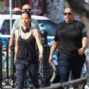 Lucy Liu heads to the set of 'Elementary' in West Village - 454 x 592