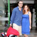 Elena Karpodini and Vasilis Liatsos- leaving the maternity clinic August 2016 - 454 x 454