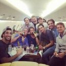 F1 drivers take time out on flight from Russian Grand Prix to relax after tough week following Jules Bianchi horror crash