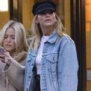 Jennifer Lawrence in Denim Jacket out in NYC