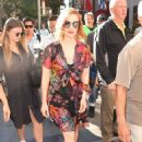 Jessica Chastain in Mini Dress out in Manhattan