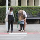 Esti with her step daughter in Tel Aviv 03/2011
