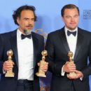 Director Alejandro Inarritu and Leonardo DiCaprio At The 73rd Golden Globe Awards (2016)