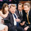 Jessica Biel, Giovanni Ribisi and Bryan Cranston at 'The Late Late Show with James Corden' (January 2017) - 454 x 303