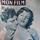 Corinne Calvet - Mon Film Magazine Cover [France] (27 December 1950)