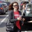 Lily Collins Leaves workout in Beverly Hills - 454 x 557