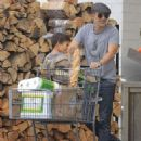 Olivier Martinez and his son Maceo are spotted out grocery shopping at Bristol Farms in West Hollywood, California on April 10, 2016 - 454 x 593