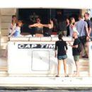 Alicia Vikander and Michael Fassbender at a Yacht in Ibiza 07/07/2017 - 454 x 303