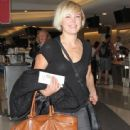 Malin Akerman departing on a flight at LAX airport in Los Angeles, California on January 26, 2015 - 443 x 600