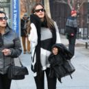 Alessandra Ambrosio and a friend out for lunch at Bar Pitti in New York City, NY on March 3, 2012