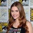 """Actress Holland Roden attends the """"Teen Wolf"""" press line during Comic-Con International 2016 at Hilton Bayfront on July 21, 2016 in San Diego, California"""