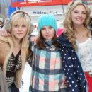 Felicity Jones, Tamsin Egerton and Georgia King on Chalet Girl (2011) shoot
